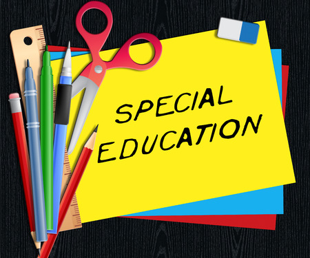 Special Education Representing Gifted Children 3d Illustration