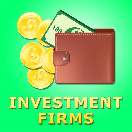 Investment Firms Wallet Means Investing Companies 3d Illustration