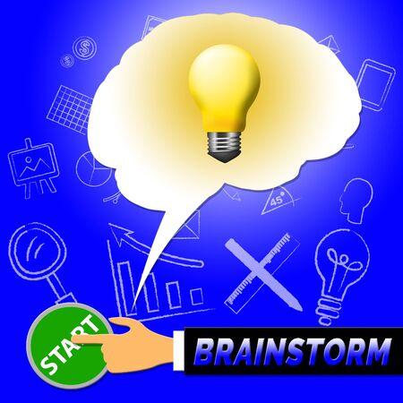 Brainstorm Light Meaning Dream Up 3d Illustration