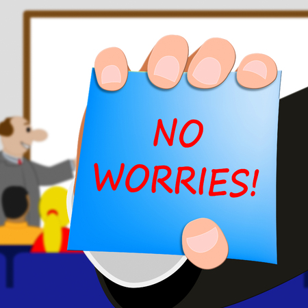 No Worries Showing Being Calm 3d Illustration Banco de Imagens