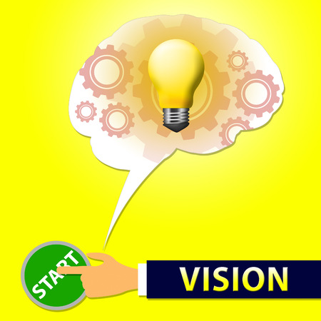 Vision Light Showing Planning And Objectives 3d Illustration Stock Photo