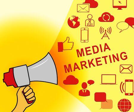 Media Marketing Icons Representing News Tv 3d Illustration Stock Photo