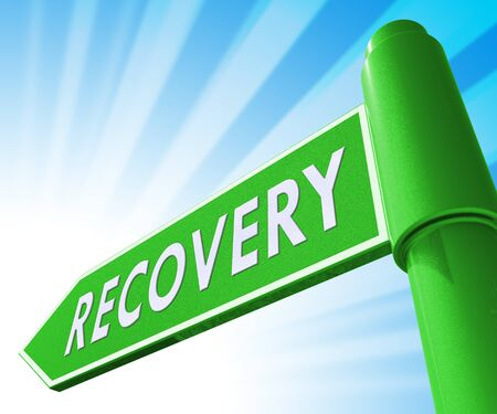 convalescence: Recovery Road Sign Showing Get Back 3d Illustration