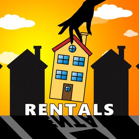 Property Rentals House Means Real Estate 3d Illustration