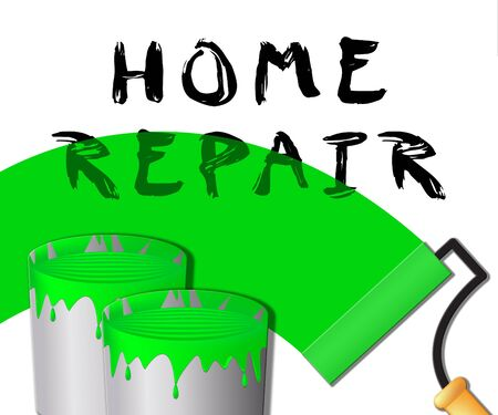 Home Repair Paint Represents Fixing House 3d Illustration