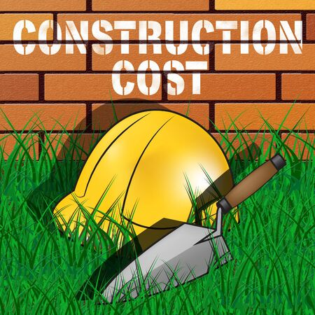 Construction Cost Builders Hat Means Building Costs 3d Illustration