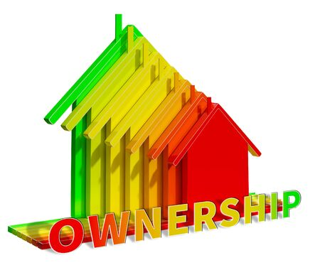 Home Ownership Eco House Shows Real Estate 3d Illustration Stock Photo