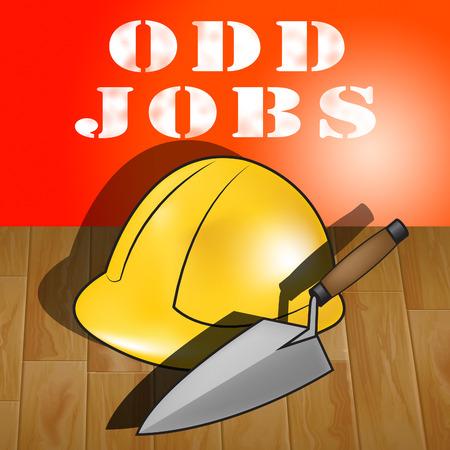 Odd Jobs Builders Hat Representing House Repair 3d Illustration