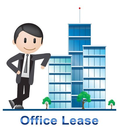 Office Lease Buildings Describes Real Estate 3d Illustration Stock Photo