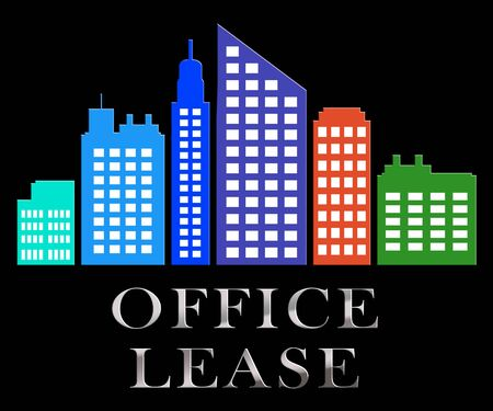 Office Lease Skyscrapers Describes Real Estate Leases 3d Illustration Stock Photo