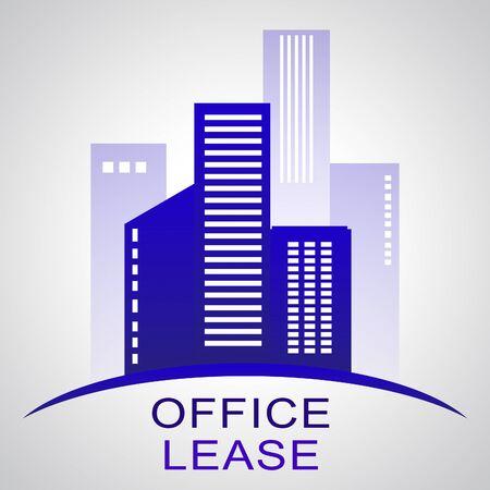 Office Lease Skyscrapers Describing Real Estate Buildings 3d Illustration
