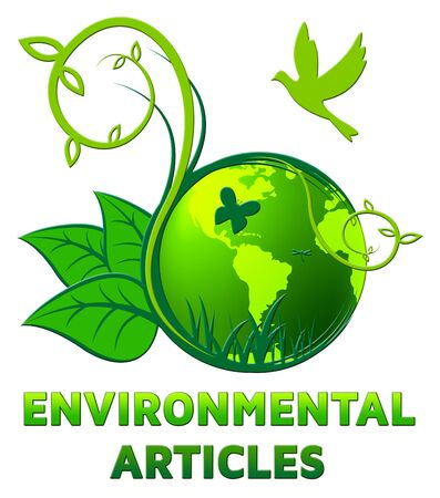 articles: Environmental Articles Showing Eco Publication 3d Illustration