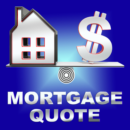 borrowing: Mortgage Quote House Means Real Estate 3d Rendering