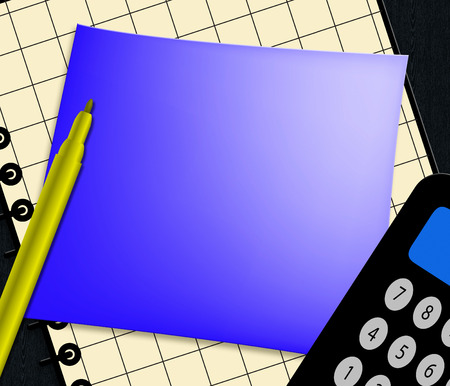 Blank Note With Copyspace Displaying Empty 3d Illustration Stock Photo