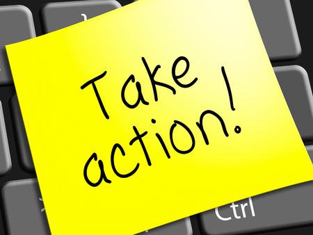 Neem actiebericht Vertegenwoordigen doen 3d illustratie