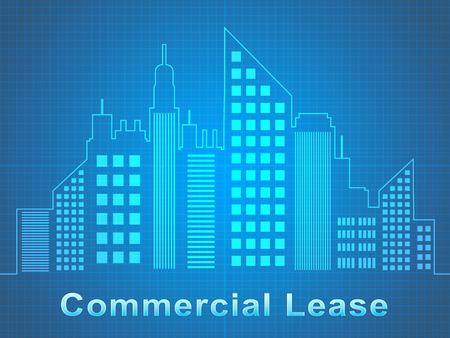 Commercial Lease Skyscrapers Represents Real Estate Offices 3d Illustration