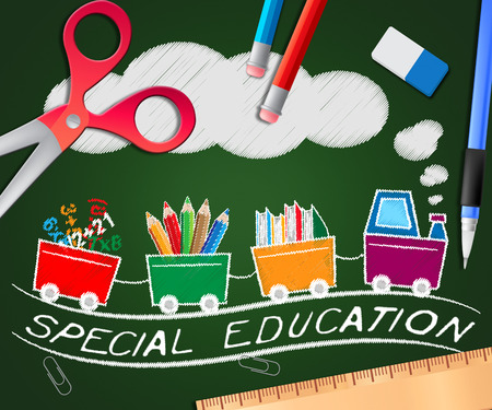Special Education Picture Representing Gifted Children 3d Illustration