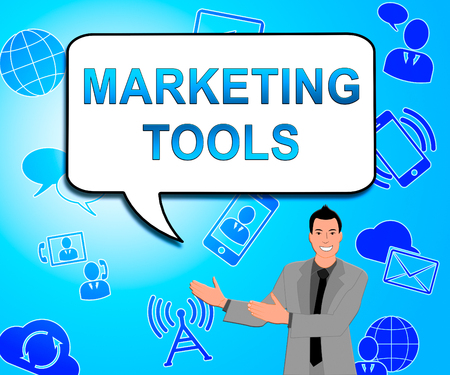 Marketing Tools Icons Shows Promotion Apps 3d Illustration