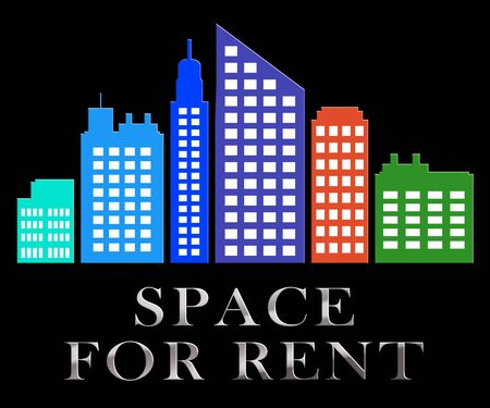 Space For Rent Skyscrapers Describes Real Estate Leases 3d Illustration