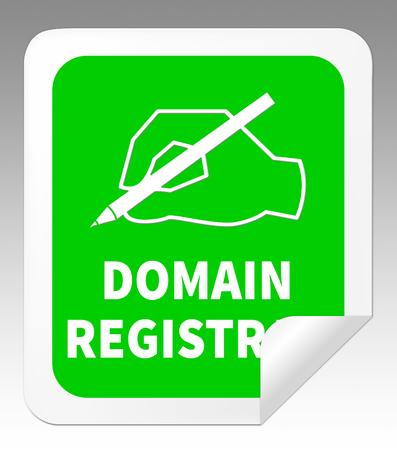 Domain Registration Hand Indicating Sign Up 3d Illustration