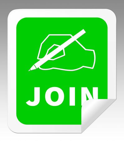 admission: Join Icon Showing Membership Admission 3d Illustration Stock Photo