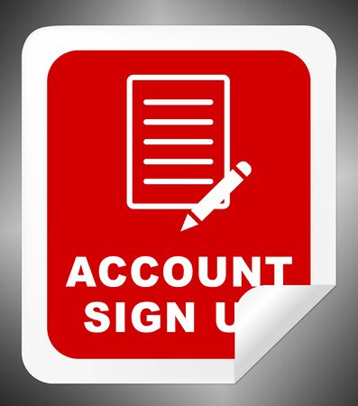subscribing: Account Sign Up Icon Indicates Registration Membership 3d Illustration