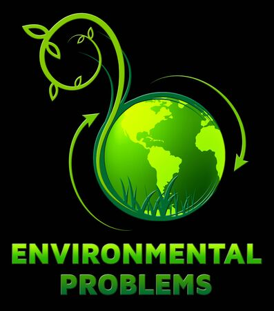 earth day: Environment Problems Showing Eco Issues 3d Illustration