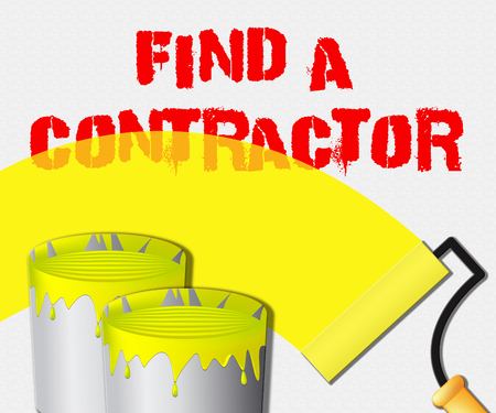 finding: Find A Contractor Paint Displays Finding Builder 3d Illustration