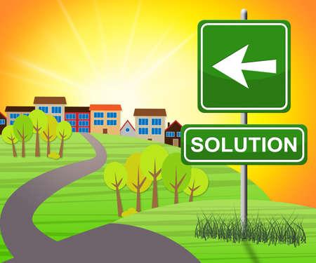 Oplossingsbord die het Oplossen van Succesvolle 3d Illustratie vertegenwoordigen
