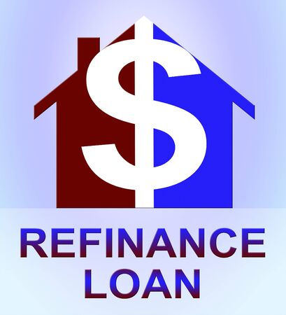 refinancing: Refinance Loan Dollar Icon Represents Equity Mortgage 3d Illustration