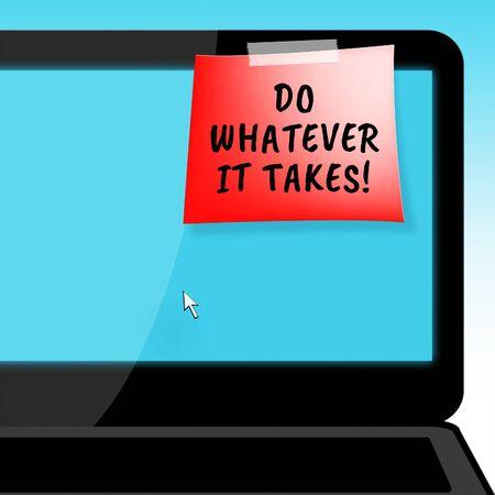 Doe Wat Het Laptop Notitie Betreft Bepaling 3D Illustratie