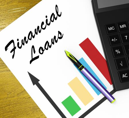 Financial Loans Graph Showing Bank Credit 3d Illustration