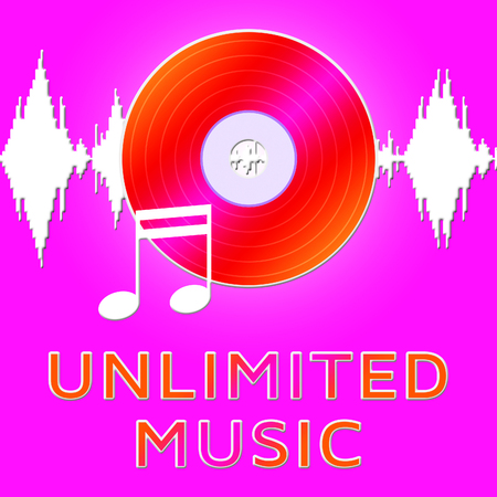 Unlimited Music Dvd Means Numerous Songs 3d Illustration
