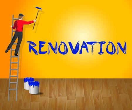 Home Renovation Indicating House Improvement 3d Illustration Stock Photo