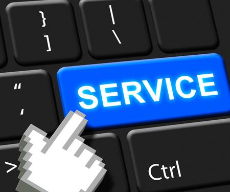 inform information: Service Key Means Help Support 3d Illustration