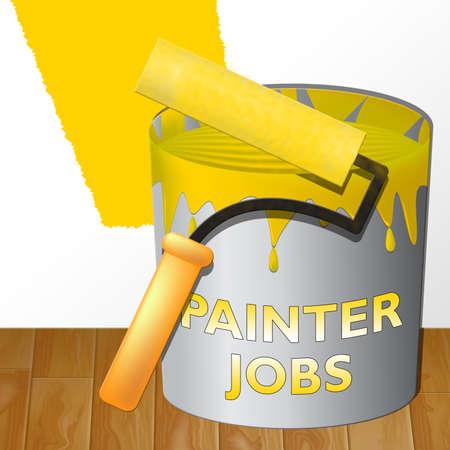 Painter Jobs Paint Showing Painting Work 3d Illustration