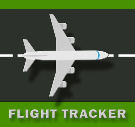 Flight Tracker Plane Means Airplane Status 3d Illustration