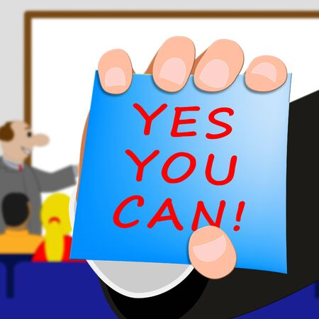 Yes You Can Meaning All Right 3d Illustration