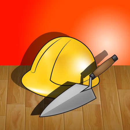 House Builders Hat Representing Real Estate 3d Illustration