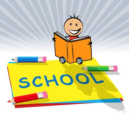 School Supplies Paper Displays Stationery 3d Illustration