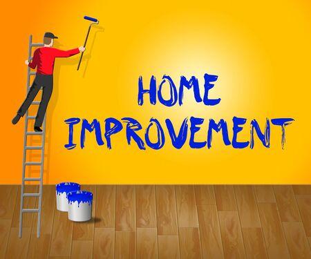 Home Improvement Indicating House Renovation 3d Illustration Stock Photo