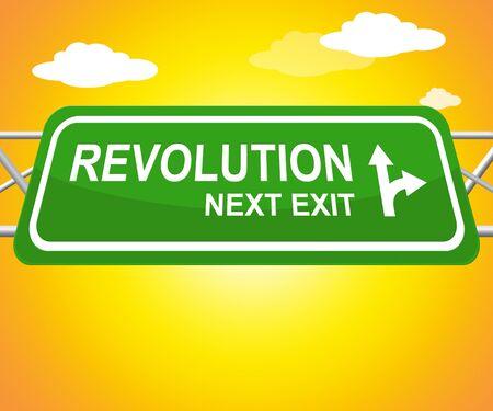 Revolution Sign Meaning Regime Change 3d Illustration Фото со стока