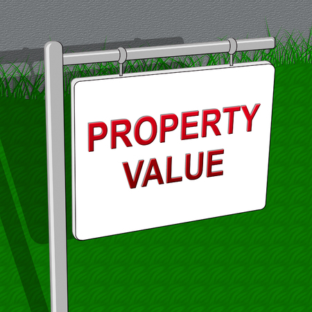 Property Value Indicating House Prices 3d Illustration