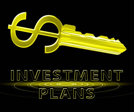 schemes: Investment Plans Dollar Key Means Investing Schemes Stock Photo