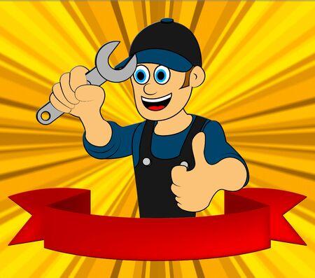 Handyman Repair Displays Home Repairman 3d Illustration