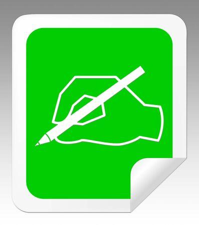 Het schrijven van Berichthand betekent Communicatie nota 3d illustratie