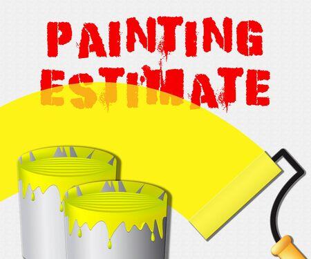 Painting Estimate Paint Displays Renovation Quote 3d Illustration