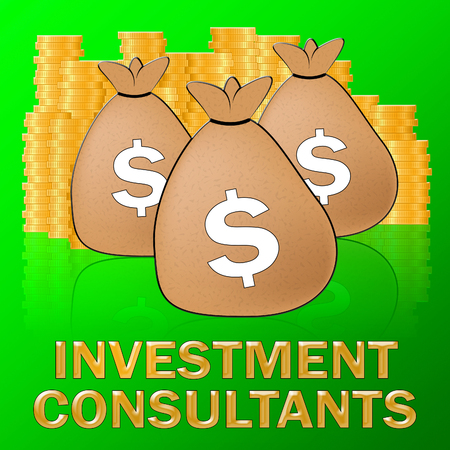 Investment Consultants Dollars Shows Investing Specialist 3d Illustration
