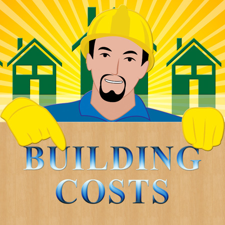 Building Costs Shows House Construction 3d Illustration