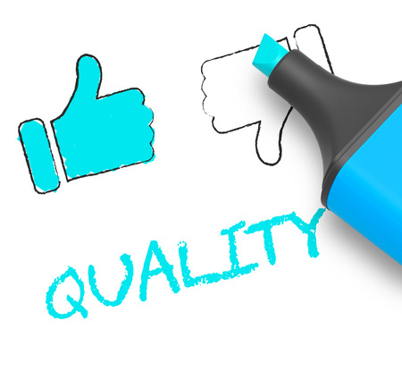 Quality Thumbs Up Displays Approval Survey 3d Illustration